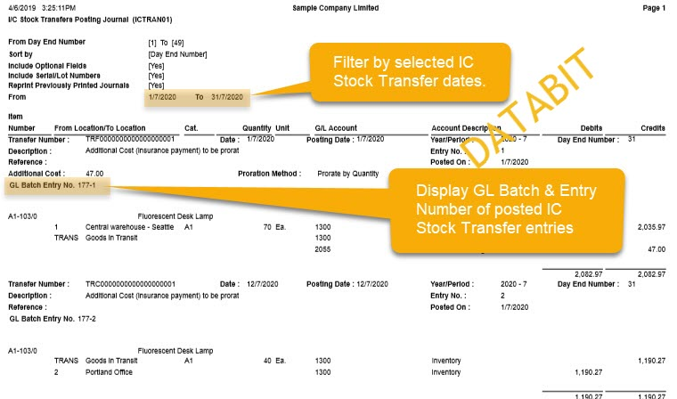 2019 06 IC STOCK TRANSFER POSTING JOURNAL