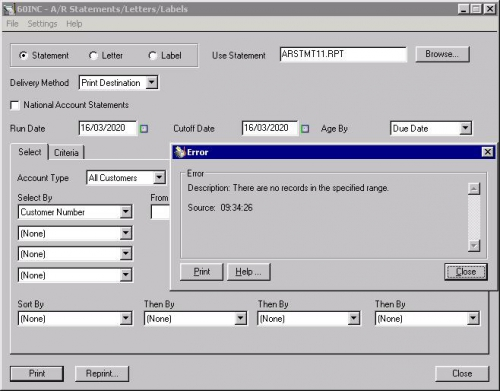 Troubleshooting AR Statement of Accounts processing